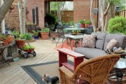 Фото 18 Дизайн двора частного дома: создаем уютное и функциональное пространство своими руками