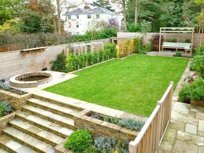Ландшафтный дизайн в многоуровневом дворе