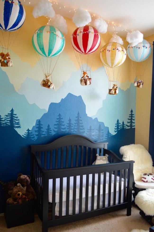 Очень интересные фотообои в детской поддерживают непринужденное настроение и отлично сочетаются с общим интерьером комнаты
