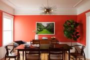 Фото 19 Коралловый цвет в интерьере: 70 теплых и гармоничных сочетаний для дома
