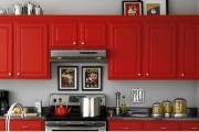 Фото 14 Кухни красного цвета: 50 самых трендовых и сочных решений для тех, кто не боится экспериментировать