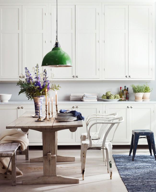 Эффект состаривания мебели в интерьере кухни прованс