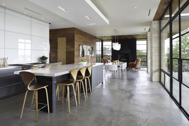 Кухня в стиле модерн прежде всего должна быть практичной и комфортной: натуральная отделка, качественная мебель и продуманные аксессуары