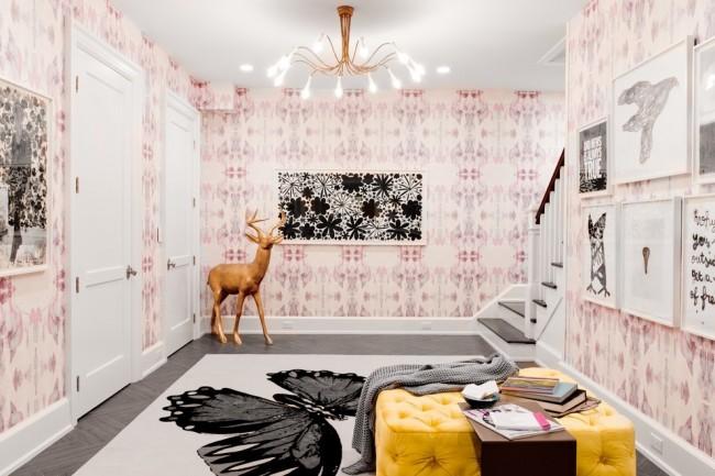 Роскошное сочетание черного с нежно-розовыми оттенками