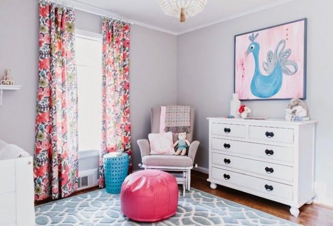 Свежие сочетания цветов в интерьере станут отличным вариантом для детской комнаты