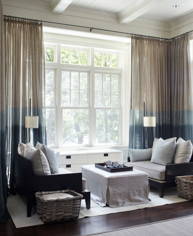 Оформление шторами окон: 40 потрясающих фото и идей для дома