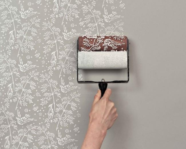 Технология нанесения рисунка на стены таким валиком достаточно проста и незаурядна