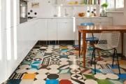 Фото 9 Плитка на кухне: 45 изящных и функциональных вариантов отделки пола