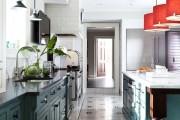 Фото 2 Плитка на кухне: 45 изящных и функциональных вариантов отделки пола
