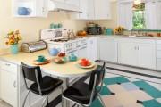 Фото 15 Плитка на кухне: 45 изящных и функциональных вариантов отделки пола