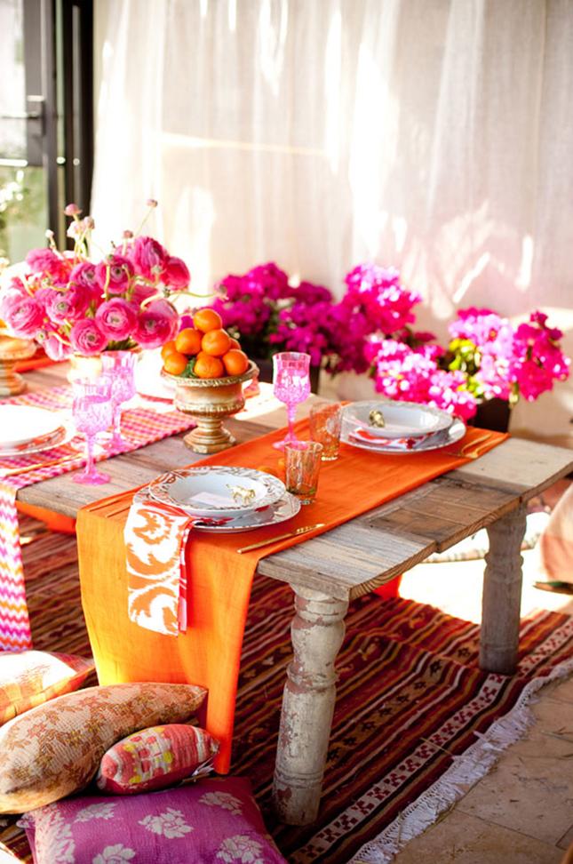 Бохо-вечеринка с элементами марокканского стиля