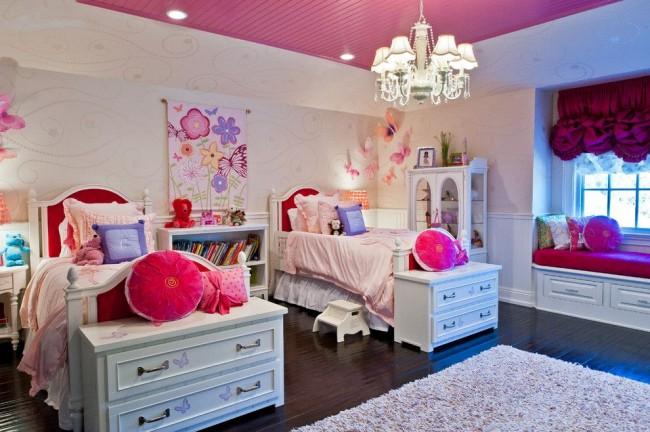 Штора из тафты с кисточками для детской комнаты девочек традиционного американского стиля