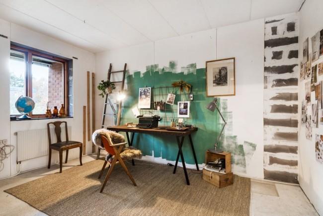 Личное пространство для работы и творчества, вдохновляющее и позитивное. Дизайн и декор: Nordic Aarv, Стокгольм, Швеция