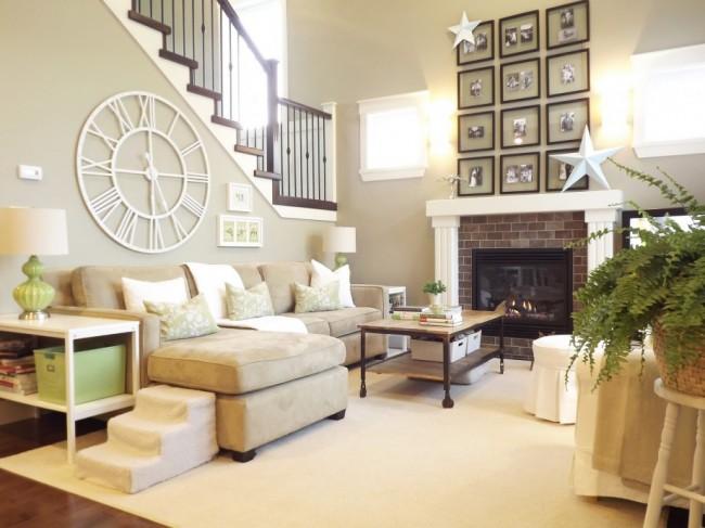 При свободной планировке зонирование просторного помещения происходит при помощи мебели