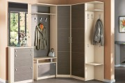 Фото 9 Угловые шкафы в прихожую: как оптимально задействовать пространство и 45+ лучших реализаций в интерьере
