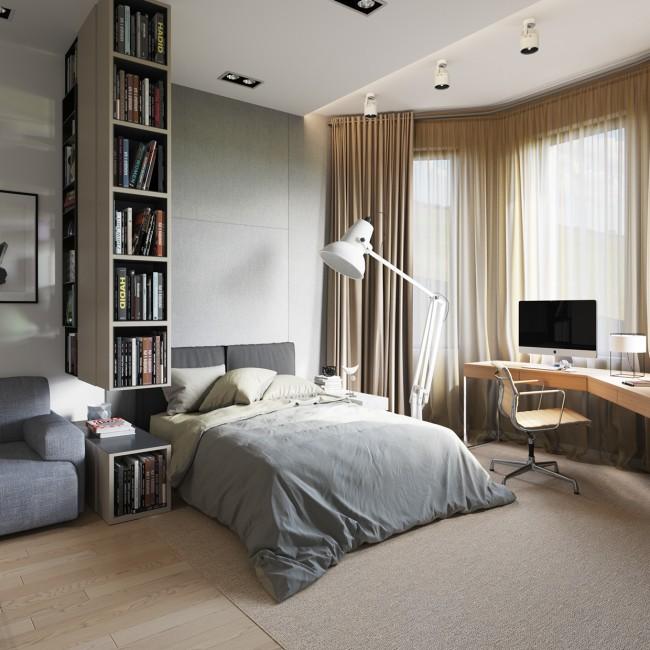 Если снести перегородку между комнатой и балконом, то получим дополнительную полезную площадь