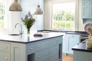 Фото 2 Бело-голубая кухня: как гармонизировать интерьер и 85 беспроигрышных вариантов оформления