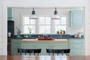Фото 4 Бело-голубая кухня: как гармонизировать интерьер и 85 беспроигрышных вариантов оформления