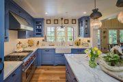 Фото 5 Бело-голубая кухня: как гармонизировать интерьер и 105 беспроигрышных вариантов оформления