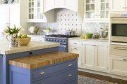 Фото 15 Бело-голубая кухня: как гармонизировать интерьер и 85 беспроигрышных вариантов оформления