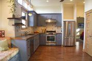Фото 19 Бело-голубая кухня: как гармонизировать интерьер и 85 беспроигрышных вариантов оформления
