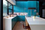 Фото 31 Бело-голубая кухня: как гармонизировать интерьер и 105 беспроигрышных вариантов оформления