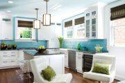 Фото 32 Бело-голубая кухня: как гармонизировать интерьер и 85 беспроигрышных вариантов оформления