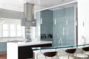 Фото 35 Бело-голубая кухня: как гармонизировать интерьер и 105 беспроигрышных вариантов оформления