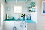 Фото 36 Бело-голубая кухня: как гармонизировать интерьер и 85 беспроигрышных вариантов оформления