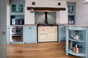 Фото 39 Бело-голубая кухня: как гармонизировать интерьер и 85 беспроигрышных вариантов оформления