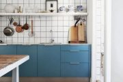 Фото 40 Бело-голубая кухня: как гармонизировать интерьер и 85 беспроигрышных вариантов оформления
