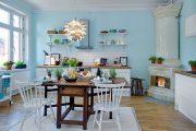 Фото 43 Бело-голубая кухня: как гармонизировать интерьер и 105 беспроигрышных вариантов оформления