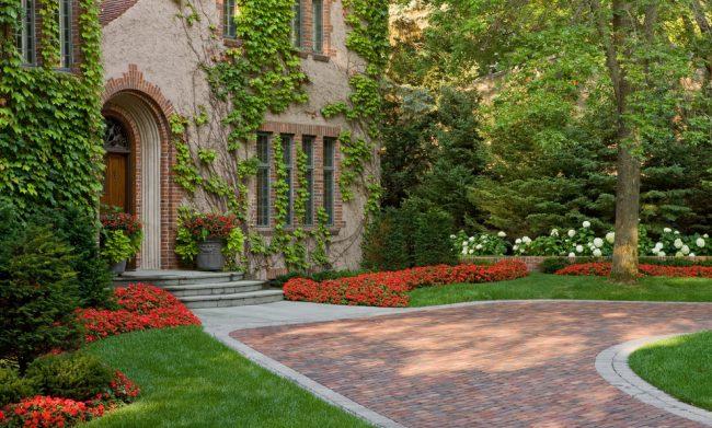 Красные цветы придадут контраста вашему саду