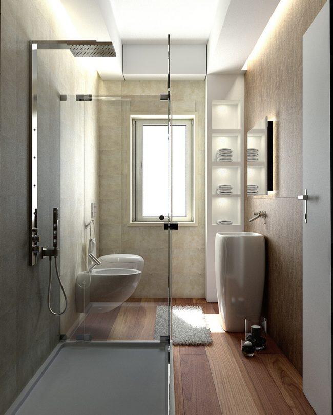Уютная ванная комната в современном стиле