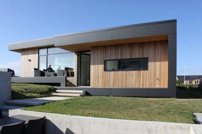 Скандинавский стиль в оформлении одноэтажного дома из бруса