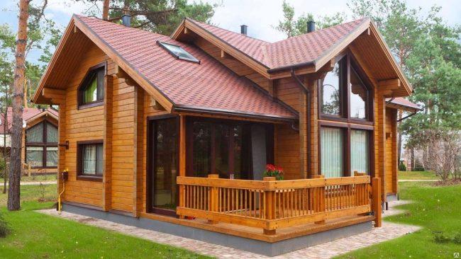 Уютный семейный дом из профилированного бруса