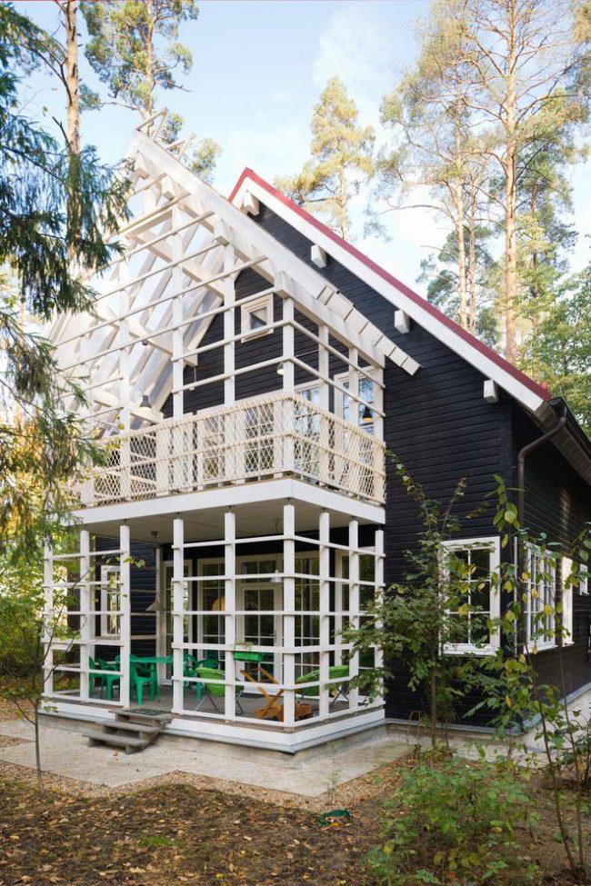 Скандинавский стиль в оформлении дома из бруса