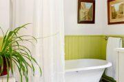 Фото 6 Угловой карниз для ванны: особенности выбора и 75+ функциональных и стильных воплощений