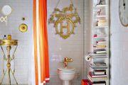 Фото 9 Угловой карниз для ванны: особенности выбора и 75+ функциональных и стильных воплощений