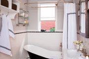 Фото 12 Угловой карниз для ванны: особенности выбора и 75+ функциональных и стильных воплощений