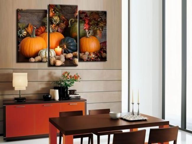 Для кухни хорошо подойдет картина с яркими овощами