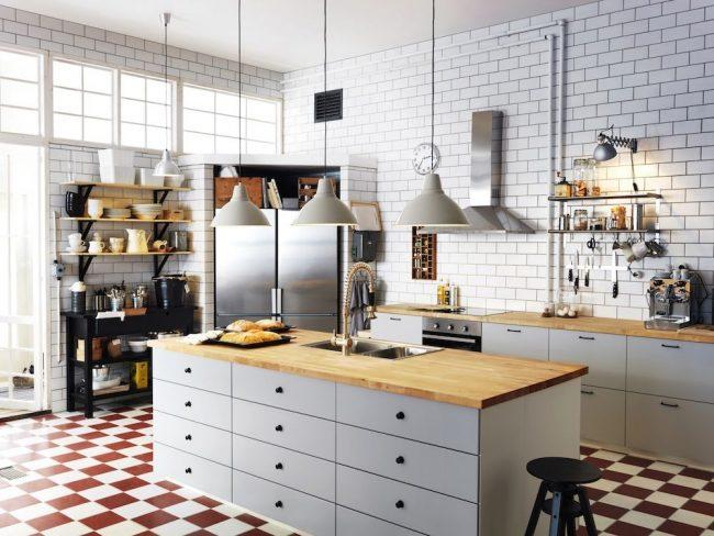 Кухня IKEA с островом