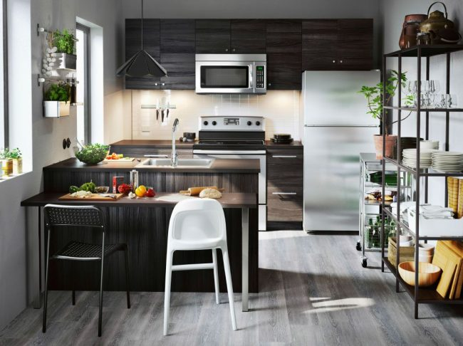 Дизайн кухни икеа в интерьере