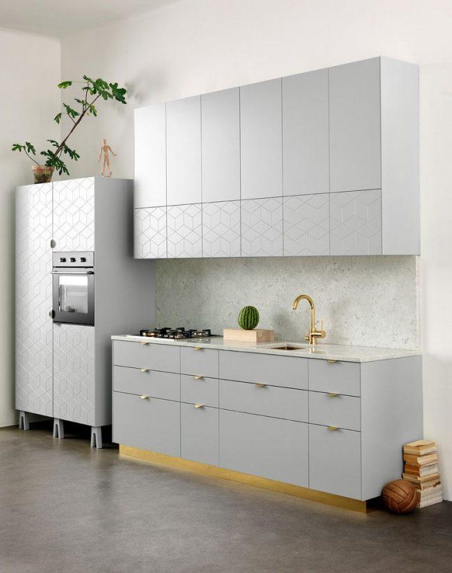 Линолеум на полу кухни в скандинавском стиле