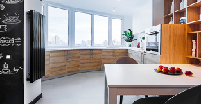 Объединение балкона с кухней: этапы перепланировки и 70 наиболее комфортных реализаций фото