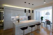 Фото 15 Объединение балкона с кухней: этапы перепланировки и 70 наиболее комфортных реализаций