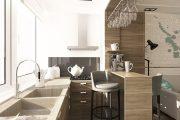 Фото 18 Объединение балкона с кухней: этапы перепланировки и 70 наиболее комфортных реализаций