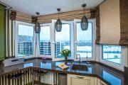 Фото 25 Объединение балкона с кухней: этапы перепланировки и 70 наиболее комфортных реализаций