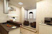 Фото 26 Объединение балкона с кухней: этапы перепланировки и 70 наиболее комфортных реализаций