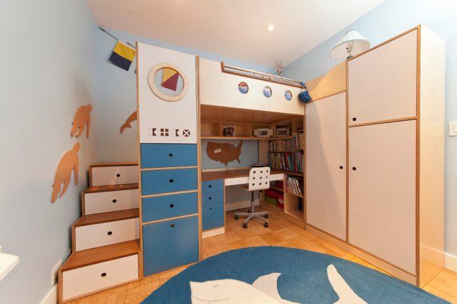Эргономичная организация пространства - главная задача при создании интерьера небольшой детской комнаты